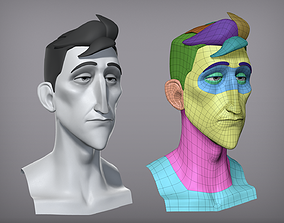 3D Cartoon male character Pierce base mesh