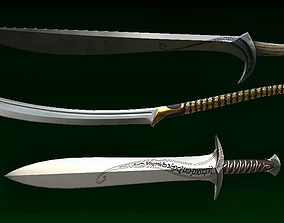 3D asset Elven Blades
