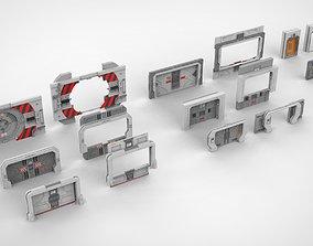 3D sci-fi door collection 2