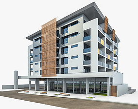 3D model Modern Apartment Building 03