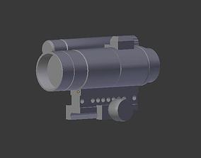 CompM4 low-poly I No texture 3D