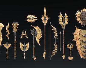 Fantasy Weapon Chitin set 3D asset