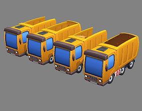 3D asset realtime Cartoon truck - Engineering truck