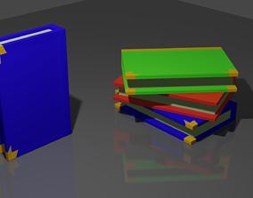 Books Low Poly 3D asset