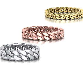 3D Cuban Ring Chain ring collection with discount