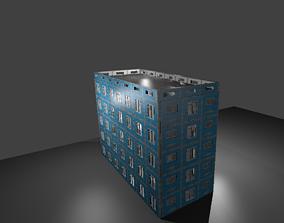 Russian panel building 3D asset