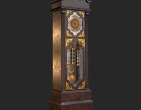 Retro Vintage Grandfather Clock PBR 3D asset