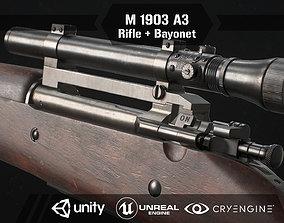 3D asset Springfield M1903 Sniper rifle