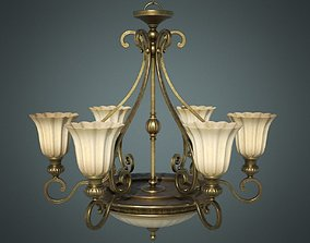 3D model Classic Chandelier 01 - Game Ready
