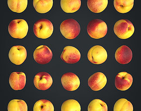 Nectarines pack Lowpoly models 3D asset