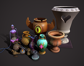 3D asset magic vases