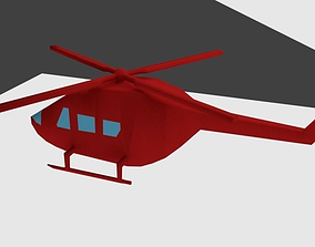 3D Helicopter Animated and Rigged animated
