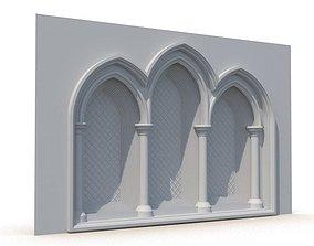 Gothic Window 010 3D