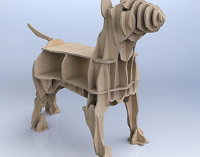 CNC cutting templates for plywood bull terrier 3D model