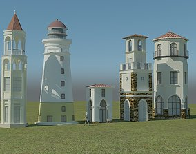 towers low ply 3D model