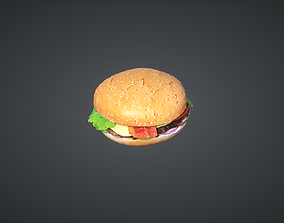 3D model game-ready Hamburger