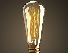 Vintage Antique Light Bulb 3D model