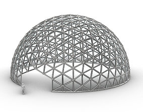 Geodesic Dome Large with Frame and Panels and 3D