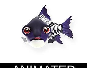 Gaint Carp Fish Cartoon Style Animated 3D model