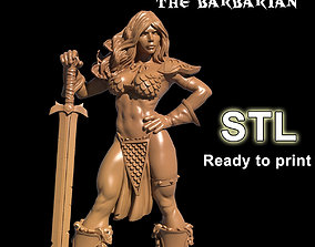 3D print model Sondra The Barbarian