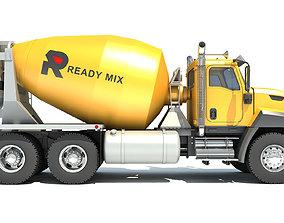 3D Concrete Mixer Ready Mix Truck