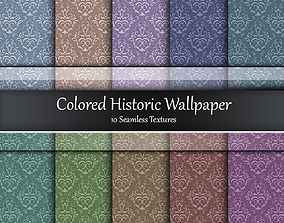 3D Colored Historic Wallpaper Seamless Textures