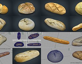 BREAD COLLECTION PACK X8 3D bread