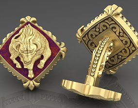 Zodiac signs Cufflinks Calf 3D printable model