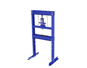 20 ton hydraulic shop press manual metal garage floor 3D 1