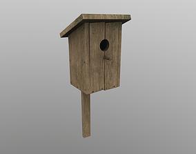 3D model VR / AR ready Birdhouse