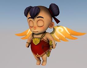 Cupid 3D model rigged