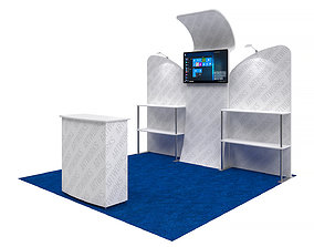 Exhibition booth 10x10ft 3DM017