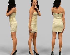 3D asset Female silencing
