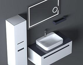 Bathroom Furniture Set Cerato 100 3D