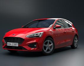 Focus Hatchback Car 3D