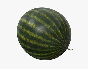 Whole watermelon 3D model