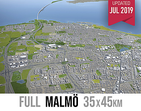 Malmo - city and surroundings 3D asset