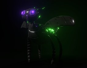 Robot Bug with PBR Textures - No Rigged - Game 3D model