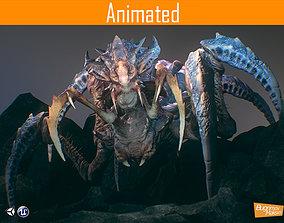3D asset animated Arachnid Boss