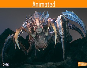 3D asset animated Arachnid Boss