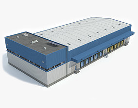 Industrial Building 3D model low-poly ready