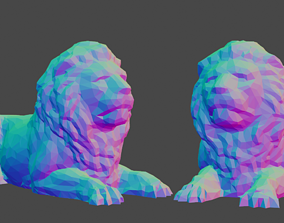 3D printable model Low Poly Lion