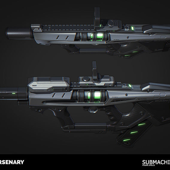 Submachine Gun (Highpoly)