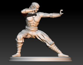 Liu Kang fight pose 3D printable model