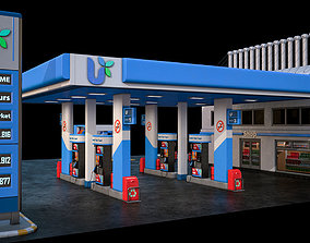 High Detailed Gas Station 3D model