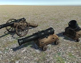 Cannons Pack 3D asset