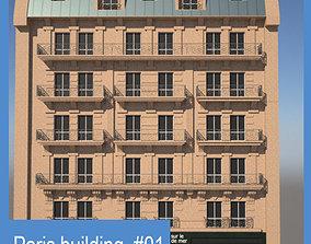 3D model Paris Building 01