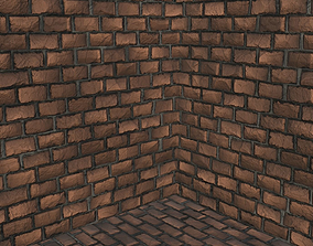 5 Tileable Brick Wall type A 3D model