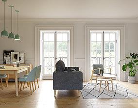 Photorealistic scene - Beautiful living room 3D