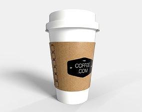 PBR Coffee Cup - Coffee Logo 3D model